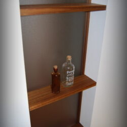チーク無垢材飾り棚